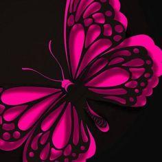 Abstract Butterfly wallpaper by ____S Butterfly Kisses, Butterfly Flowers, Beautiful Butterflies, Butterfly Tattoos, Purple Butterfly, Butterfly Sayings, Butterfly Live, Butterfly Sketch, Purple Hearts