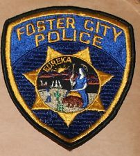 Very Old FOSTER CITY POLICE San Mateo County California CA PD Vintage patch