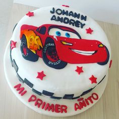 Cars  #TortasDulcycandy Rayo Mcqueen ⚡ Johann cumple su primer añito ❤ #TortasPalmira @dulcycandy