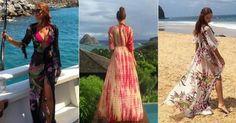 Saída de praia longa - peça conquistou Marina Ruy Barbosa - Verão 2017 - Moda praia das famosas