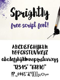 FREE font! Sprightly is a partially-connecting handwritten script font. A really stylish, popular and current look font for your design! and it is free for personal and commercial use!