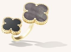 Van Cleef & Arpels Magic Alhambra Between the Finger Ring - Yellow gold, Mother-of-Pearl, Onyx (£5,600)