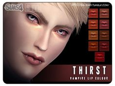 The Sims Resource: Thirst  - Vampire Lip Colour by Screaming Mustard • Sims 4 Downloads