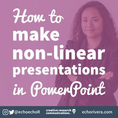 How to make a non-linear presentation in PowerPoint using the Zoom feature — Welcome Creative Communicators! Powerpoint Animation, Powerpoint Tips, Microsoft Powerpoint, Microsoft Word, Computer Tips, Computer Science, Make A Presentation, Words To Use, Beginning Of The School Year