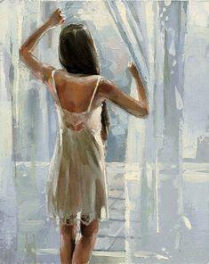 """Morning"" original fine art by Victor Bauer"