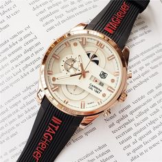 Mens watches stainless steel quartz wristwatches ⌚🌞myalleshop Wristwatches, Omega Watch, Watches For Men, Quartz, Stainless Steel, Luxury, Red, Accessories, Style