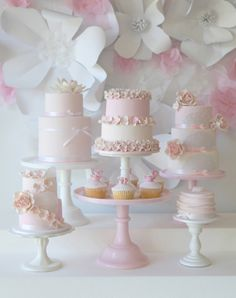 Pretty pink cakes.