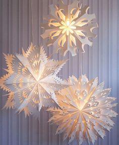 Snowflake Lights for Snowless Nights - diese sind im Online-Shop des San Francisco Museum of Modern Art (kurz: SFMOMA) zu kaufen ... oder selber zu machen.
