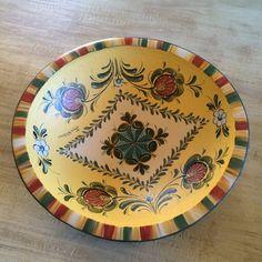 Rosepainted bowl by RusticRoseArt on Etsy