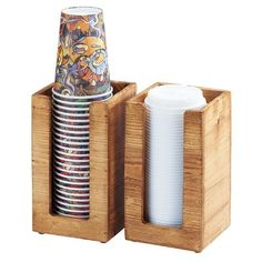 Single Madera Cup, Lid or Napkin Holder Item: This piece offers so much versatility! Use for cups, lids, or napkins on its own or with the Madera Condiment Station to also display sugar packets and creamers! Coffee Shop Design, Cafe Design, Deco Cafe, Condiment Holder, Sauce Barbecue, Lid Organizer, Coffee Carts, Café Bar, Coffee Accessories