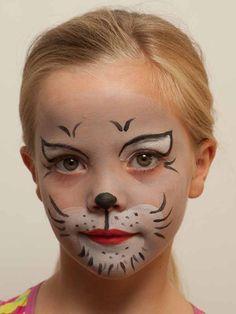 Kinderschminken Katze - Nachher (Halloween Kostm Kids)