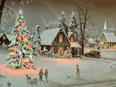 oude kerstkaart