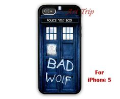 Dr Who Tardis iphone case bad wolf