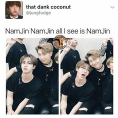 "22.2k Likes, 156 Comments - ✧⁘☽ spam @smolcupoftae ☾⁘✧ (@pandawithnojams) on Instagram: ""why jin look like he wanna eat something"""
