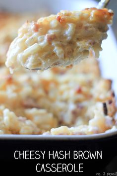 Cheesy Hash Brown Casserole - Serve with biscuits, gravy and scrambled eggs, and you're ready for a day of big adventure!