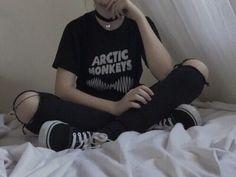 black, grunge, and arctic monkeys image