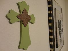 LOVE....    Painted Wooden Cross by ValeriesBoutique4 on Etsy, $15.00