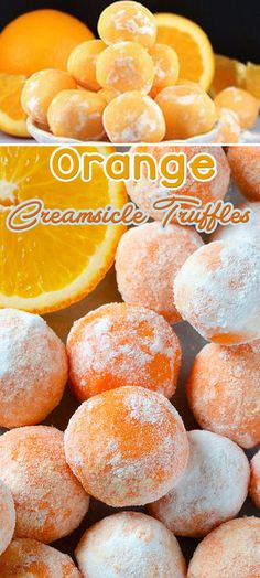 Chocolate Orange Creamsicle Truffles perfectly fit for summer- a tasty no bake dessert which simply melts in your mouth.White Chocolate Orange Creamsicle Truffles perfectly fit for summer- a tasty no bake dessert which simply melts in your mouth. Candy Recipes, Sweet Recipes, Baking Recipes, Cookie Recipes, No Bake Desserts, Delicious Desserts, Yummy Food, Yummy Eats, Yummy Appetizers