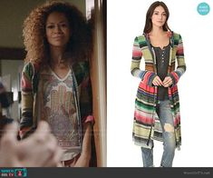 Lena's striped cardigan on The Fosters.  Outfit Details: https://wornontv.net/93952/ #TheFosters