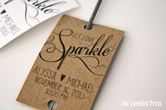 Personalized Printable Wedding Sparkler Tags by TheLovebirdPress
