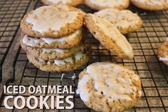 Bring back memories of your childhood with iced oatmeal cookies. Bake these cookies for a much better taste.:
