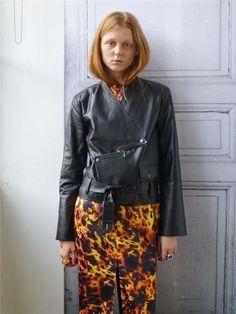 Ann-Sofie Back Zip Leather Jacket Strl. 34 på Tradera.com - Damjackor
