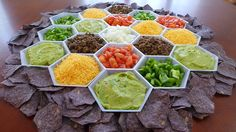 Behold the epic glory of the Settlers of Catan Nacho Bar.