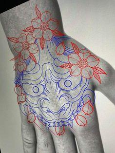Japanese Hand Tattoos, Japanese Tattoo Art, Japanese Tattoo Designs, Tricep Tattoos, Forearm Tattoos, Warrior Tattoo Sleeve, Sleeve Tattoos, Tattoo Japonais, Daruma Doll Tattoo