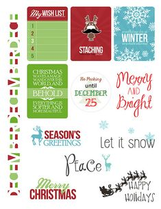 FREE Paper Crafts & Scrapbooking December 2014 Simple Printables | Paper Crafts