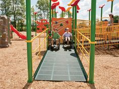 Handicipable Wheelchair Ramp on cool play structures