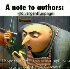 HAhahahahahaha😂😂😂😂😂😂 I so almost wrote the author of Divergent and hunger games! Book Memes, Book Quotes, Percy Jackson, I Love Books, My Books, Jorge Ben, Fangirl Problems, Book Nerd Problems, Hunger Games Problems