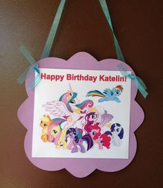 Simple My Little Pony Door Sign Rainbow By Mountainviewcreation 6 50 Birthday Hy