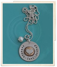 The Vintage Pearl - Hand Stamped Jewelry, Sterling Silver Jewelry and Hand Made Keepsakes