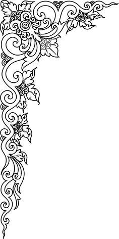 "Photo from album ""Декоративные элементы."" on Yandex. Page Borders Design, Border Design, Crazy Quilting, Henna Patterns, Embroidery Patterns, Pattern Art, Pattern Design, Gravure Metal, Cnc Cutting Design"