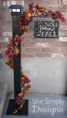 Front Porch Sign Post