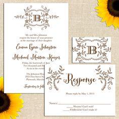 October Wedding Invitation. via Etsy.