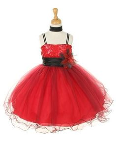 Two Tone Red Sequin Bodice Corsage Tulle Dress - Red Girl Dress, Red Dress, Red Flower Girl Dress, Ballerina Dress Red Dresses For Kids, Red Flower Girl Dresses, Girls Pageant Dresses, Red Wedding Dresses, Dance Dresses, Flower Girls, Tutu Dresses, Holiday Dresses, Dress Red