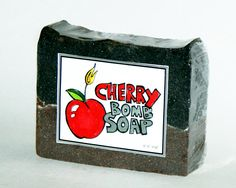 DIY Homemade Cold Process Cherry Bomb Soap Recipe with Printable Labels // Craft these fun diy homemade soaps for gifts or just for fun. Made using a seasonal holiday fragrance called Santa's Pipe that combines the scent of sweet cherries and pipe smoke. The free printable labels come in both color and black & white so they're easy to customize for your own homemade gifts!