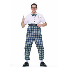 The Class Nerd Costume comes with one-piece costume with attached bow-tie and belt. All you need is a pocket protector and some thick rimmed glasses and you'll be an official NERD for Halloween Nerd Halloween Costumes, Nerd Costumes, Funny Couple Costumes, Adult Costumes, Costume Ideas, 1950s Costumes, Halloween Ideas, Funny Couples, Adult Halloween
