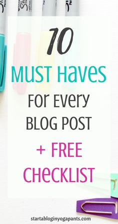 Having trouble figuring out what you should in include in every blog post? Use this simple check list to optimize every blog post. Make every blog post count! Click here to read more.