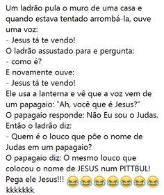 Dessa vez o Judas ajudou! Veja o post completo: http://boo-box.link/2770G   #whatsapp   #zzz   #humor   #piada   #jesus   #pitbull