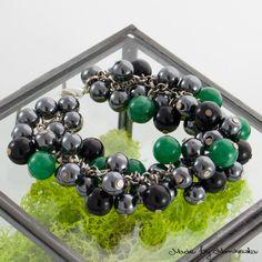 Beautiful bracelet made with black hematite by MadeByMarchewka