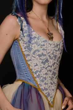 Overbust Corset 18th century / 1780 corset/ Historical Stay/