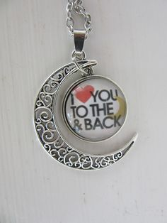 I Love You to The Moon and Back: Swinging Pendant with chain ღ❤ღ