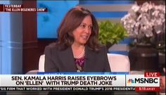 For this installment of if the parties were reversed, the Thursday evening and Friday morning broadcast network newscasts refused to cover possible 2020 presidential candidate and Democratic Senator Kamala Harris (Calif.) joking on The Ellen Show about killing President Trump, Vice President Pence, and Attorney General Jeff Sessions. The Fox News Channel's Hannity naturally covered it, but the other mention of this sick joke was MSNBC's First Look, which airs in the 5:00 a.m. Eastern hour…
