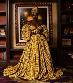 Bold and stylish Ankara statement gowns for weddings <br> Claude Kameni is the creative director of Lavie by CK Kameni is a Cameroonian Fashion Designer based in New York African Formal Dress, African Prom Dresses, African Wedding Dress, Latest African Fashion Dresses, African Attire, African Dress, Women's Fashion Dresses, Ghana Wedding Dress, African Inspired Fashion