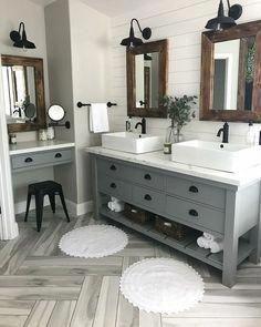 Grey Bathrooms, Beautiful Bathrooms, Master Bathrooms, Bathroom Mirrors, Bathroom Lighting, Marble Bathrooms, Boho Bathroom, Neutral Bathroom, Luxury Bathrooms
