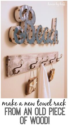 How to Make a Towel Rack From Pallet Wood - House by Hoff