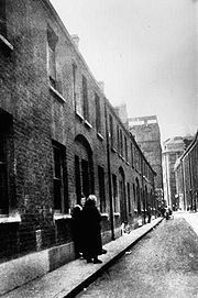 Buck's Row. Whitechapel, London, the scene of Jack the Ripper's first murder of Mary Ann Nichols