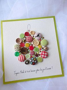 Christmas Gifts For Parents, Christmas Arts And Crafts, Christmas Activities, Diy Christmas Gifts, Handmade Christmas, Button Christmas Cards, Xmas Cards, Handmade Birthday Cards, Greeting Cards Handmade